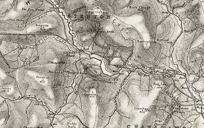 Old map of Whiteadder Water in 1901-1904