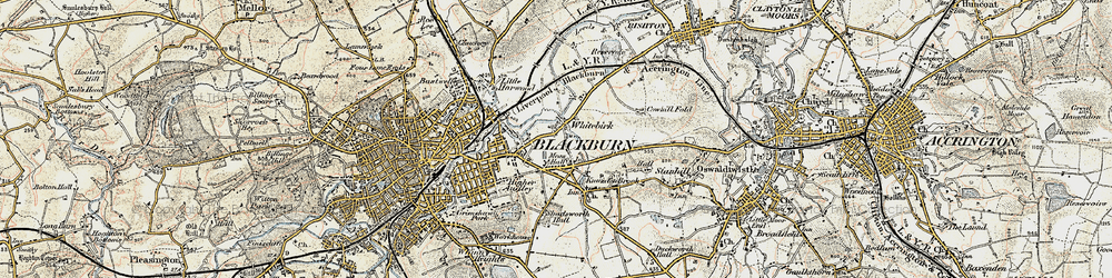 Old map of Whitebirk in 1903