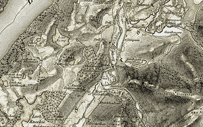 Old map of Whitebridge Plantation in 1908-1912