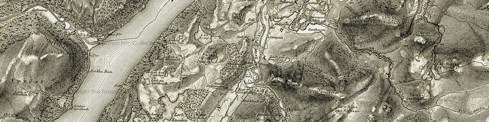 Old map of Whitebridge in 1908-1912