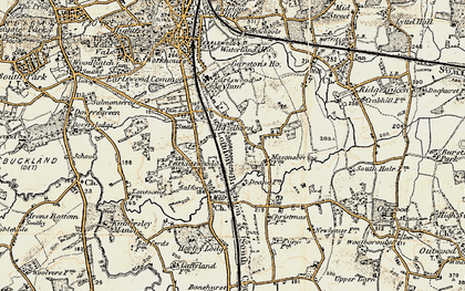 Old map of Whitebushes in 1898-1909