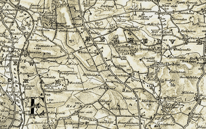 Old map of Backhill in 1909-1910