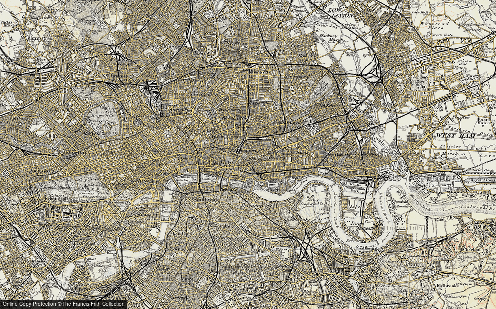 Old Map of Whitechapel, 1897-1902 in 1897-1902