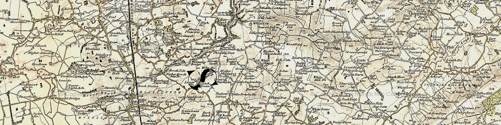 Old map of Wood Fold in 1903-1904