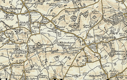 Old map of Whitechurch Maund in 1899-1901