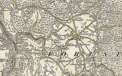 Old map of Whitecliff in 1899-1900