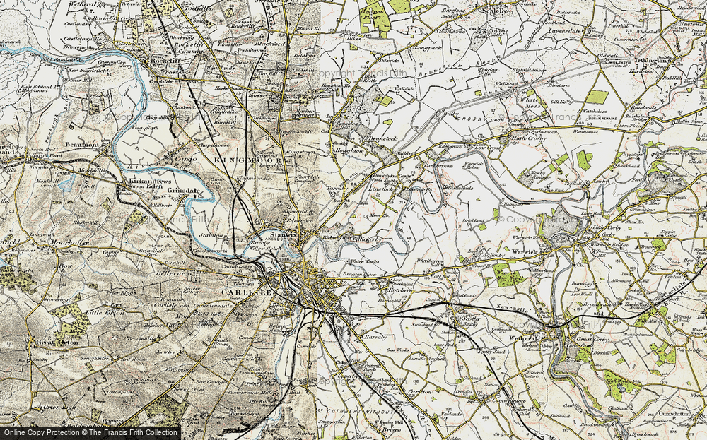 Old Map of Whiteclosegate, 1901-1904 in 1901-1904