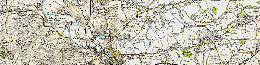 Old map of Whiteclosegate in 1901-1904