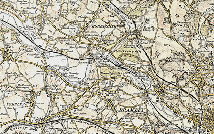 Old map of Whitecote in 1903-1904