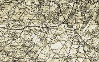 Old map of Whitecraigs in 1904-1905