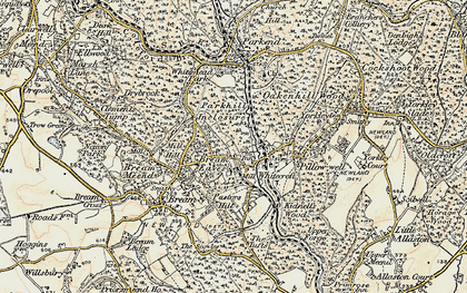 Old map of Whitecroft in 1899-1900