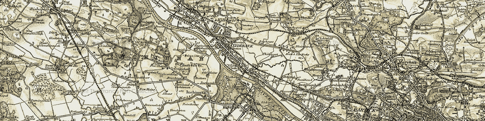 Old map of Whitecrook in 1905