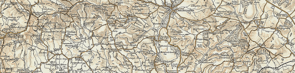 Old map of Whitecross in 1898-1899