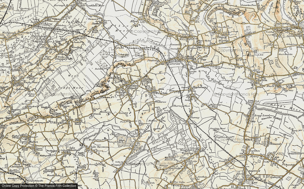 Old Map of Whitecross, 1898-1900 in 1898-1900