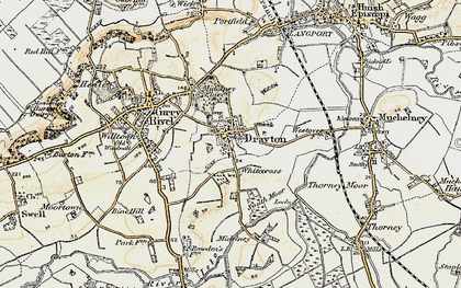 Old map of Whitecross in 1898-1900