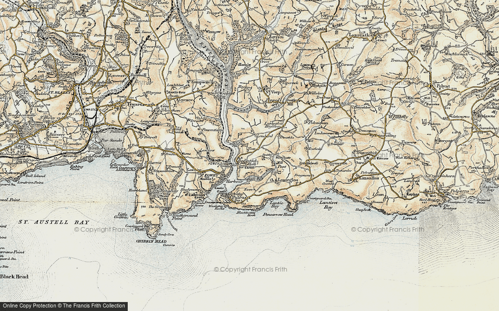 Old Map of Whitecross, 1900 in 1900