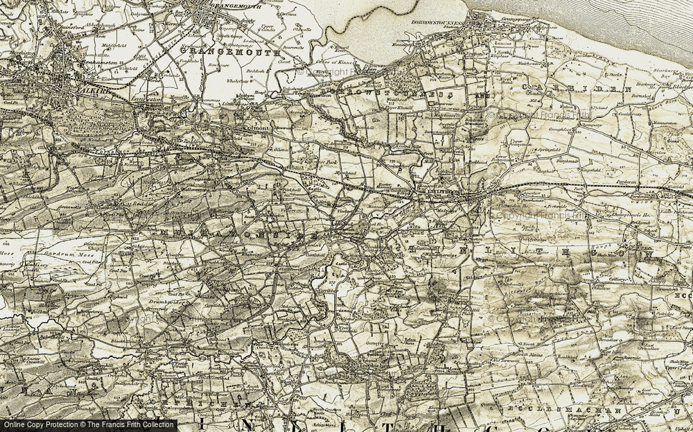 Old Map of Historic Map covering Woodcockdale in 1904-1906