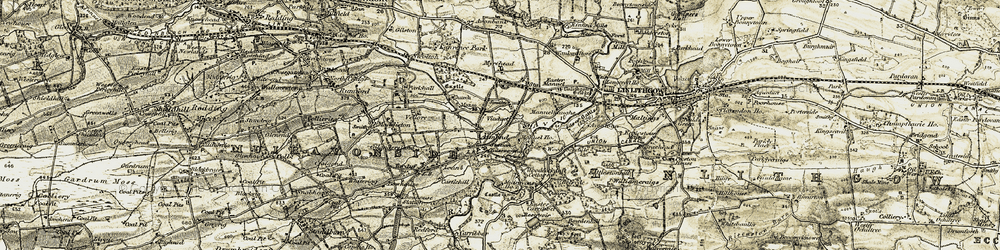 Old map of Whitecross in 1904-1906