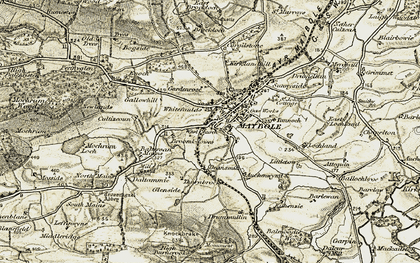 Old map of Whitefaulds in 1905