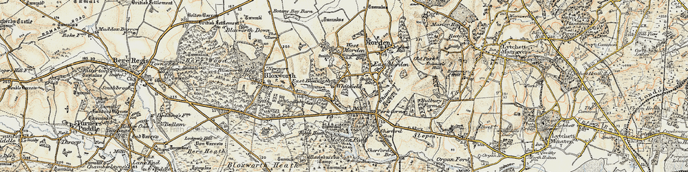 Old map of Whitefield in 1897-1909