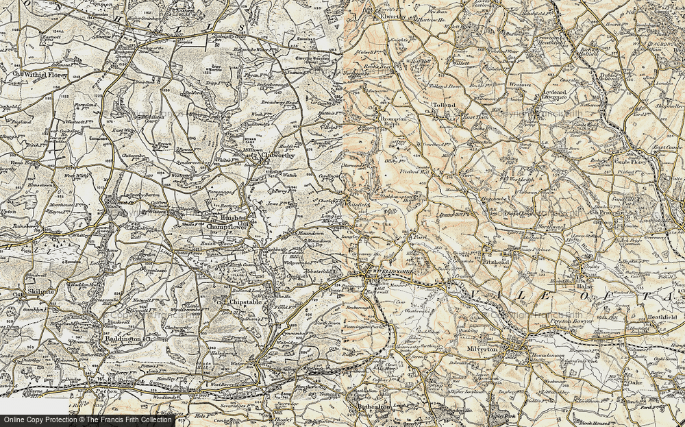 Old Map of Whitefield, 1898-1900 in 1898-1900
