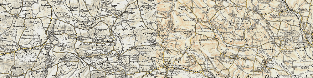 Old map of Whitefield in 1898-1900