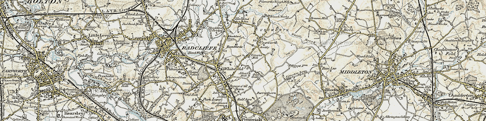 Old map of Whitefield in 1903