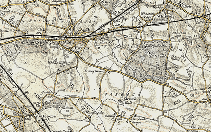Old map of Whitefield Lane End in 1902-1903
