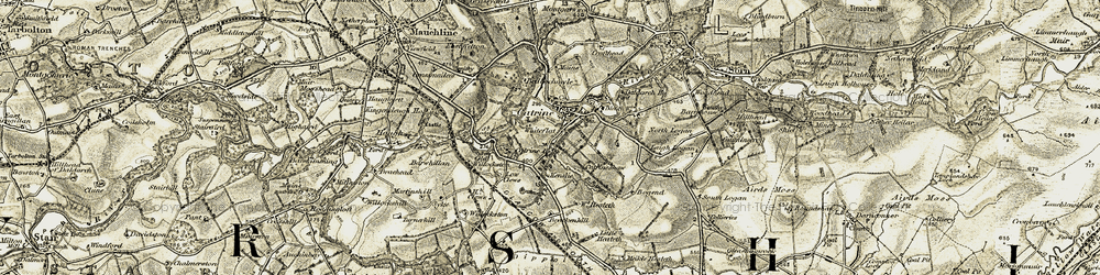 Old map of Whiteflat in 1904-1905