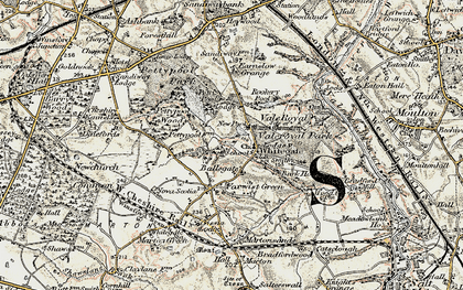 Old map of Whitegate in 1902-1903