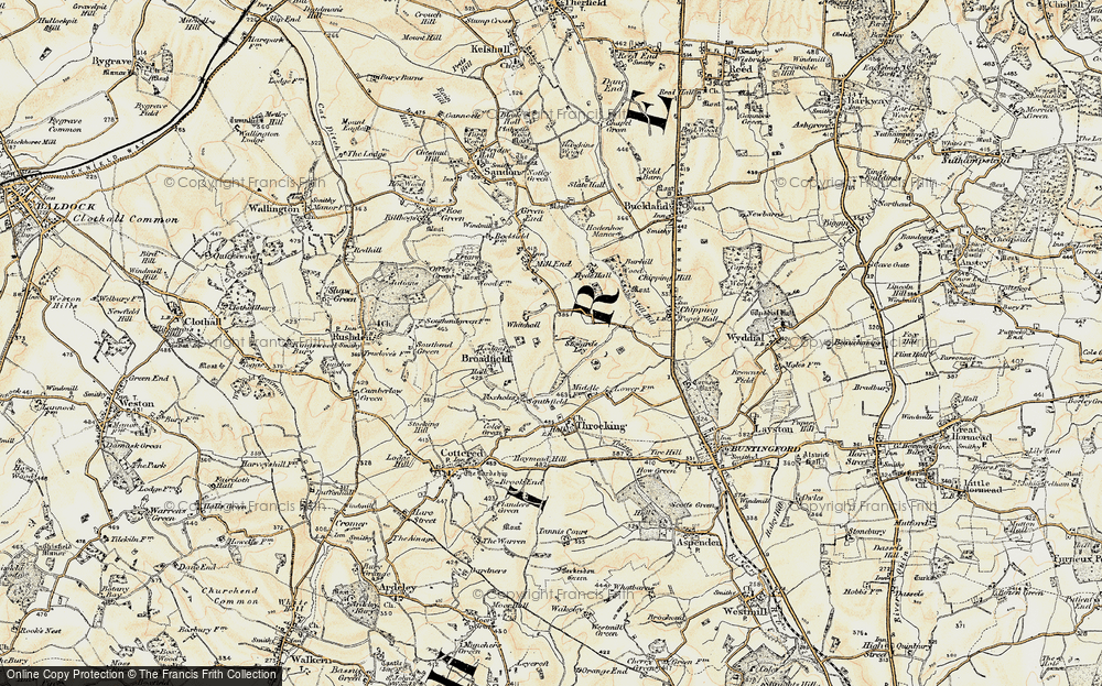 Old Map of Whitehall, 1898-1899 in 1898-1899