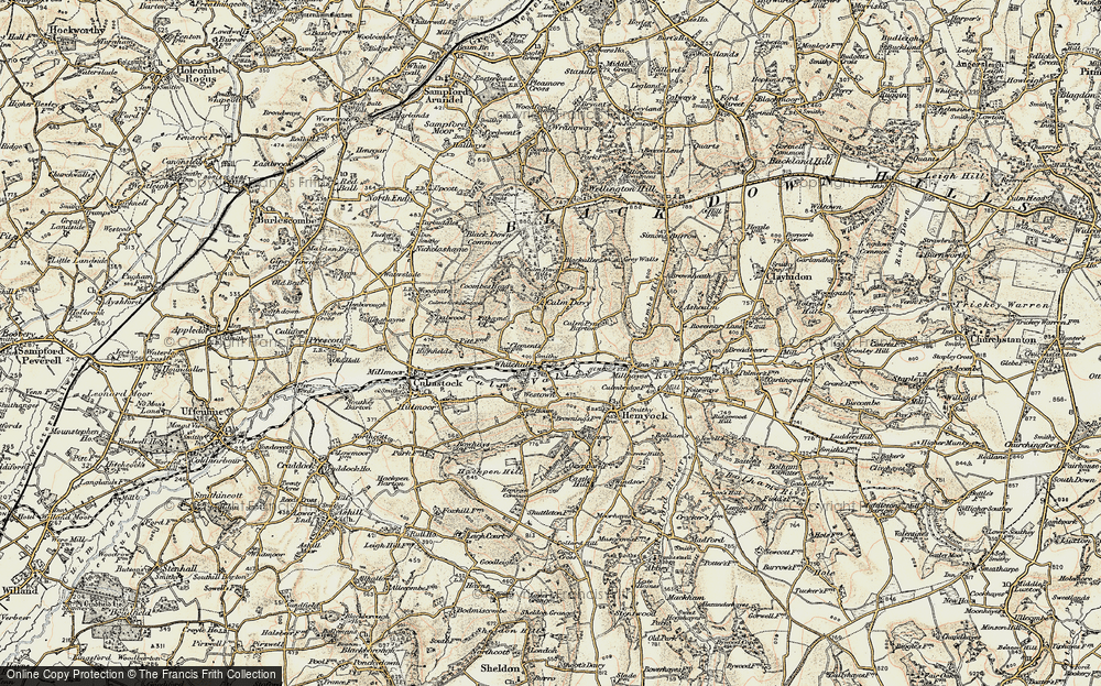 Old Map of Whitehall, 1898-1900 in 1898-1900