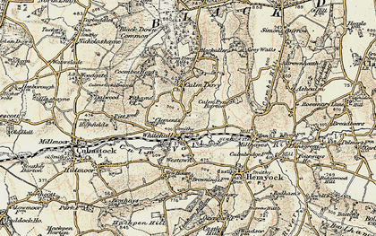Old map of Whitehall in 1898-1900