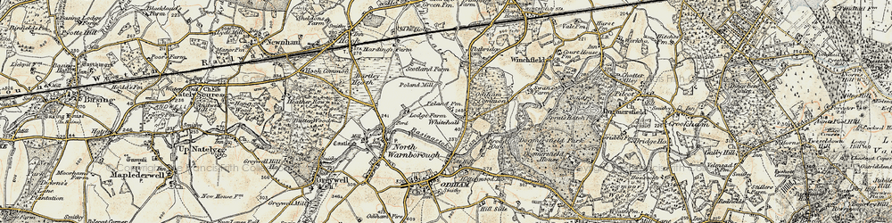 Old map of Whitehall in 1898-1909