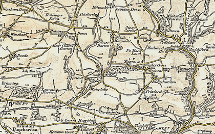Old map of Whitehall in 1900
