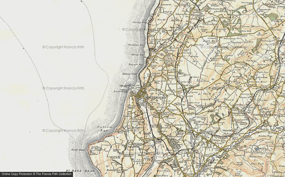 Old Map of Whitehaven, 1901-1904 in 1901-1904