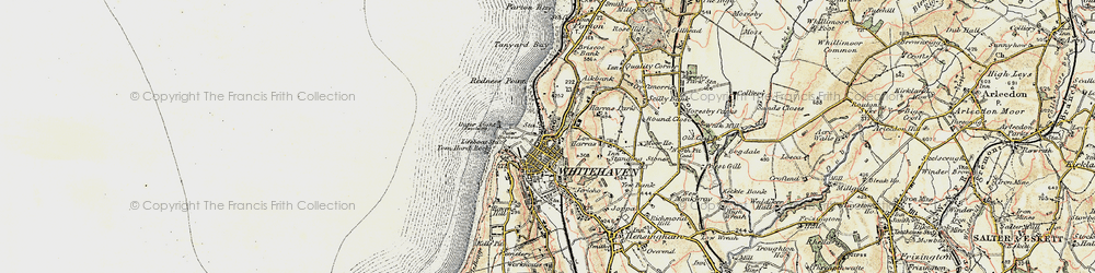 Old map of Whitehaven in 1901-1904