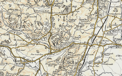 Old map of Whitehaven in 1902-1903