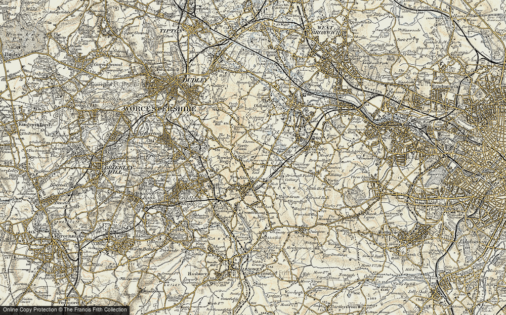 Old Map of Whiteheath Gate, 1902 in 1902