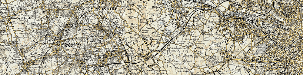 Old map of Whiteheath Gate in 1902