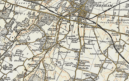 Old map of Whitehill in 1897-1898