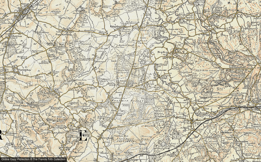 Old Map of Whitehill, 1897-1909 in 1897-1909