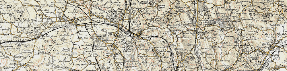 Old map of Whitehill in 1902-1903