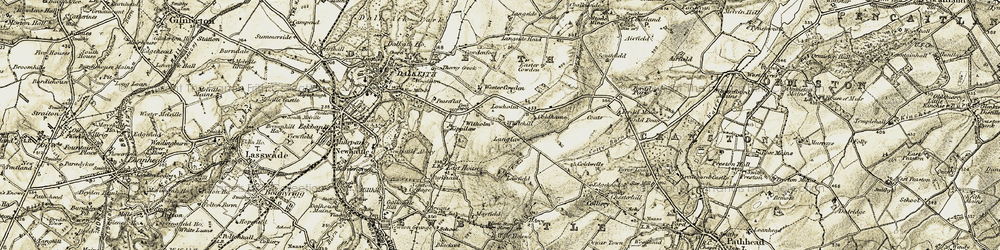 Old map of Whitehill in 1903-1904