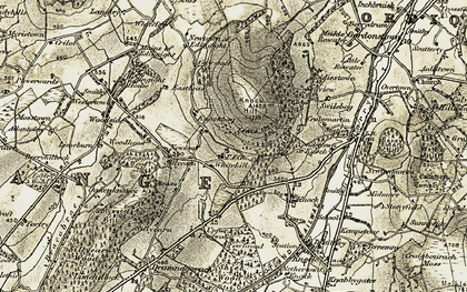Old map of Whitehill in 1910