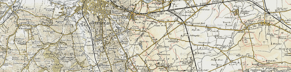 Old map of Whitehills in 1901-1904