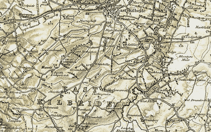 Old map of Whitehills in 1904-1905