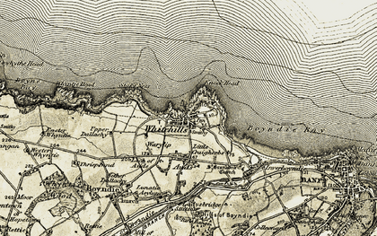 Old map of Auds in 1910
