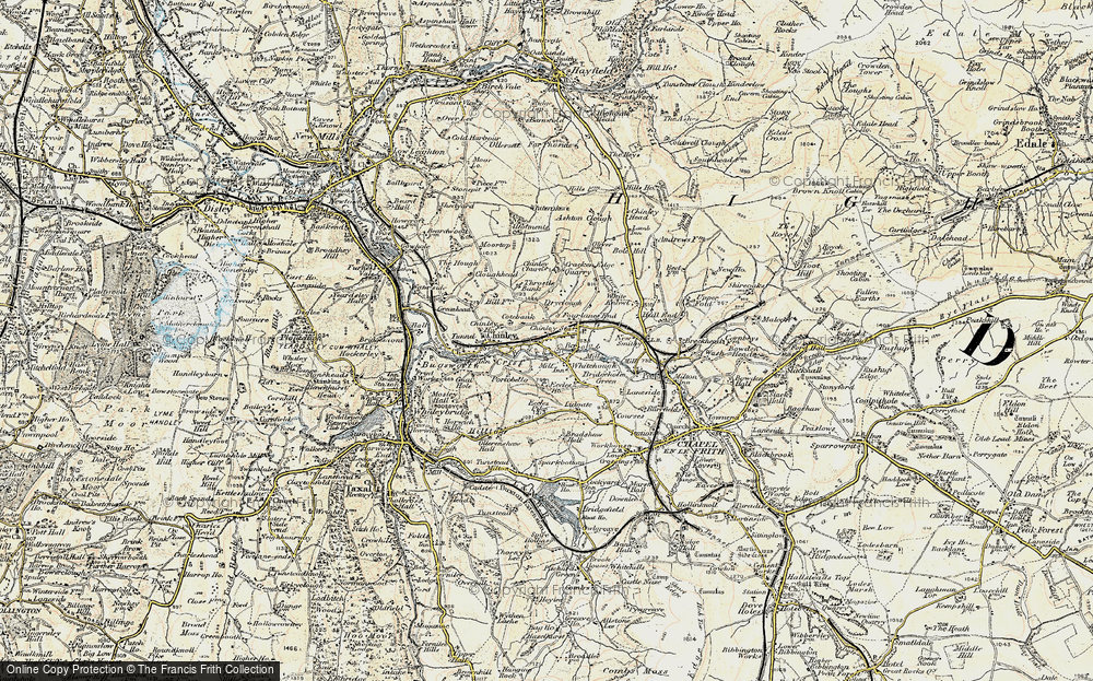 Old Map of Whitehough, 1902-1903 in 1902-1903
