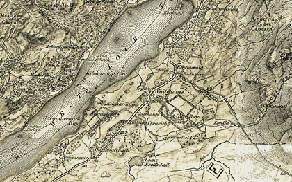 Old map of Achaglachgach Ho in 1905-1907